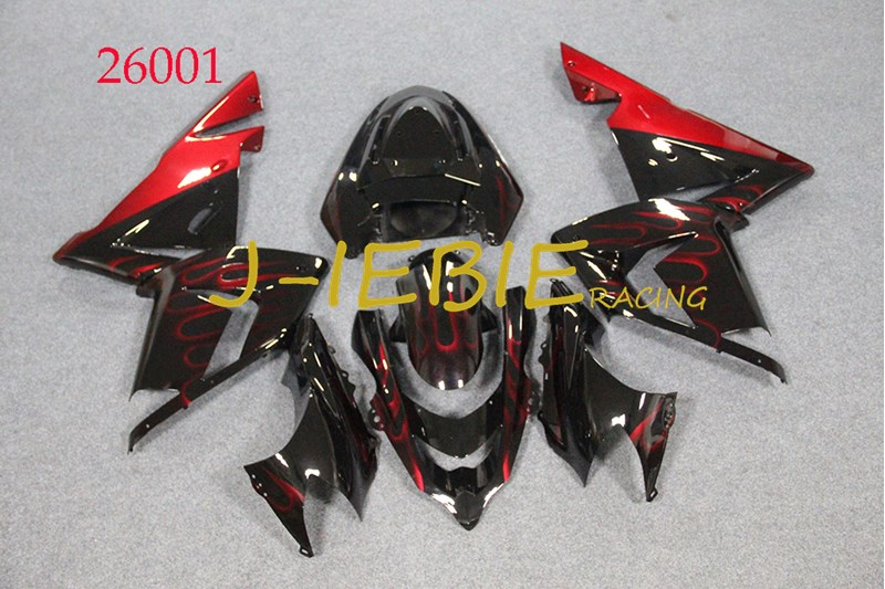 ABS Injection Fairing Body Work Frame Kit for Kawasaki NINJA ZX10R ZX10 ZX 10 R 2004 2005