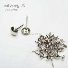 50pcs Golden Silvery Upholstery Nail Jewelry Chest Box Furniture Wall Door Shoe Sofa Decor Tack Stud Hobnail Large Head Doornail