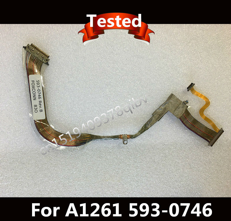 Used LCD Flex Cable 593-0746 For Macbook Pro 17 A1261 Rev. B Tested ...