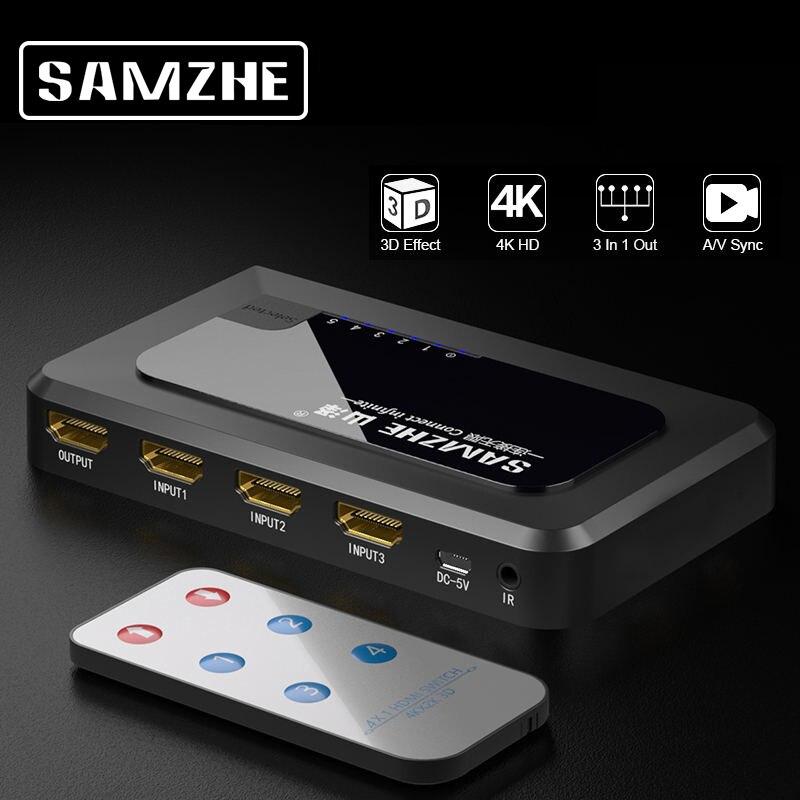Câble adaptateur Hdmi Samzhe 4K répartiteur Hdmi 3/4/5 Ports 1080P Hdmi pour projecteurs Xbox 360 Ps3 Ps4 Android Hdtv