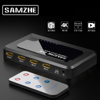SAMZHE 4K HDMI Splitter 3/4/5 Ports HDMI Switcher 1080P HDMI Adapter Cable for XBOX 360 PS3 PS4 Android HDTV Projectors