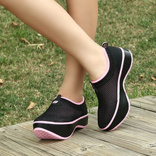 Female Fashion Mesh Upper Negative Heel Shoes for body shaper and lumbar disc herniation treatment Casual shoes