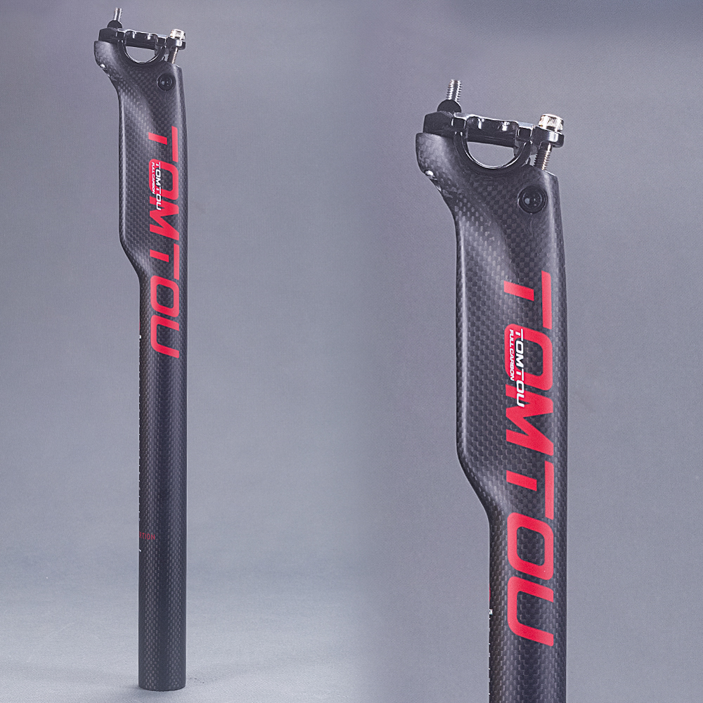 Full Carbon Fiber Seatpost Mountain Bike Broken Wind Seat Tube Matte 30.8mm