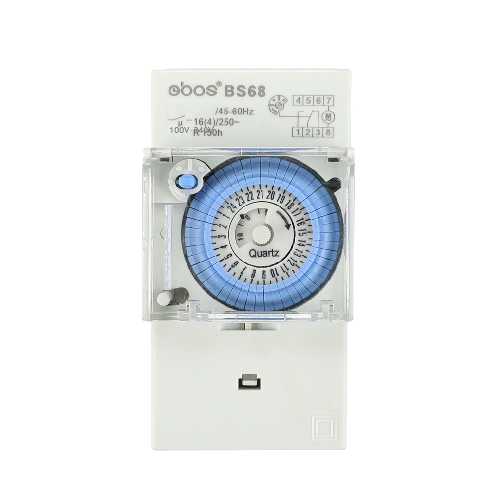 Newly 100V-240V mechanical timer 24 hours time switch with 48 times off /on time set range 30 min suitable for Asian user etc