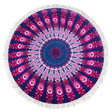 Bohemian Psychedelic Peacock Tassels Tapestry Wall Hanging Mandala Beach Towel Indian Cotton Tablecloth Bedroom Wall Decoration все цены