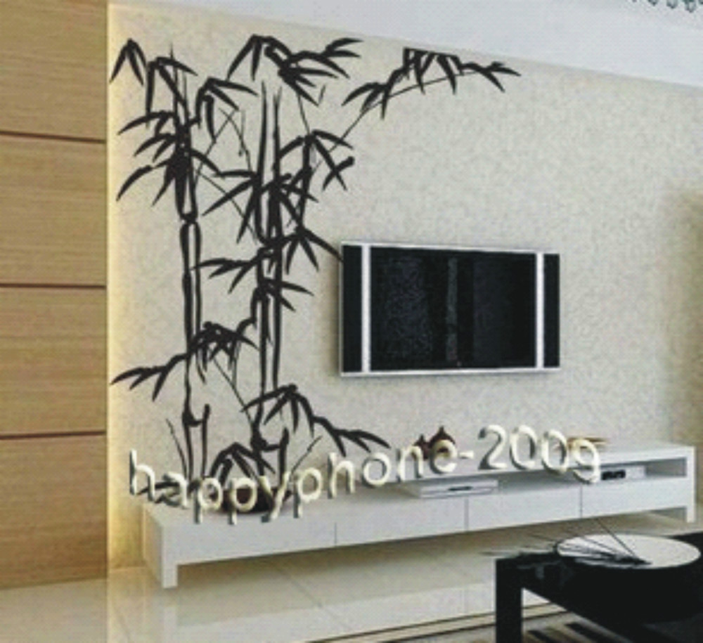 Free Shipping Chinese Bamboo Mural Home Decor Decals Decorative
