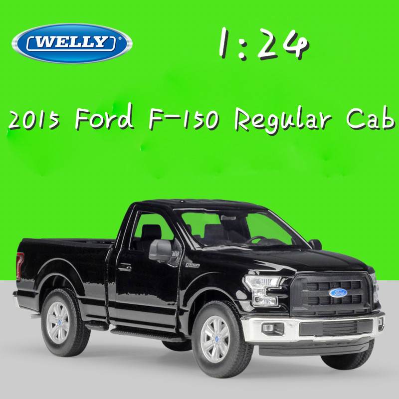 WELLY 1:24 Scale Metal Classic 2015 Ford F-150 Regular Cab Model Car Truck Diecast Vehicle Alloy Toy Car For Children CollectionWELLY 1:24 Scale Metal Classic 2015 Ford F-150 Regular Cab Model Car Truck Diecast Vehicle Alloy Toy Car For Children Collection