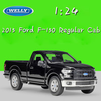 WELLY 1:24 Scale Metal Classic 2015 Ford F 150 Regular Cab Model Car Truck Diecast Vehicle Alloy Toy Car For Children Collection