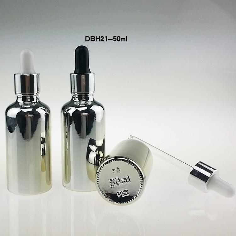 100PCS 50ml srebro bijela gumena boca kapaljke za eterična ulja, - Alat za njegu kože - Foto 2