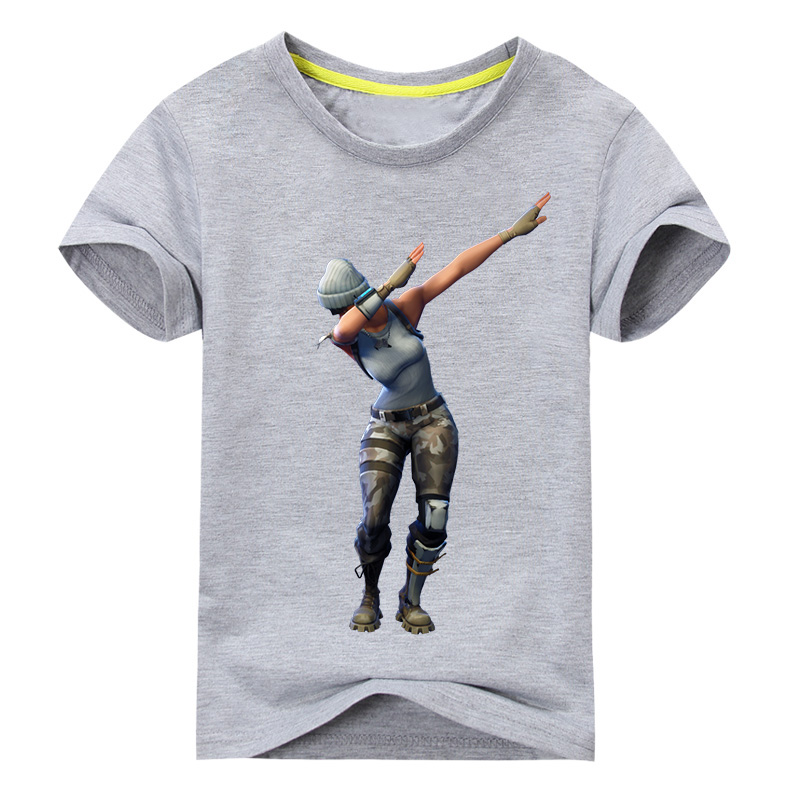 Children Battle Royale Dab T-shirt Boys Girls Summer Short Tee Tops Costume For Kids Clothing Baby Cotton T Shirt Costume DX099 2018 fashion baby children t shirt summer boys striped turn down patchwork tee shirt kids tops sports tee polo shirts clothing