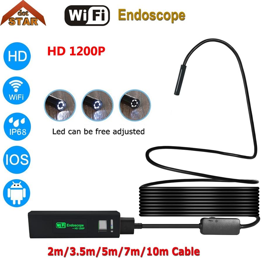 10M 1200P drahtlose Inspektion WIFI Endoskop Endoskop IP68 HD Inspektionskamera