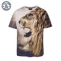 Nieuwe 2018 Stijlvolle Lion Print T-shirt Vrouwen/Mannen Merk Tshirt Mode 3d t-shirt Zomer Tops Tees big size L-XXXL