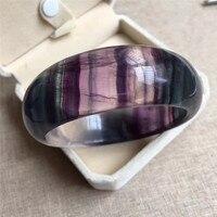 Из натуральной Красочные Флюорит Кристалл Для женщин браслет AAAA внутренняя Диаметр 60 мм