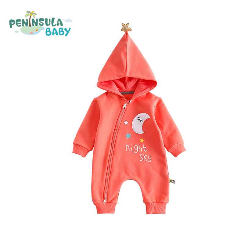 Long Sleeve Baby Romper Infant Jumpsuits Hooded Christmas Baby Products Cotton Casual Girls Boys Clothes Newborn Warm Outfits 100% cotton baby boys girls long sleeve romper stripe panda jumpsuit clothes newborn infant baby clothing christmas gift