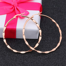 New Rose Gold Silver High Quality Round Stud Earrings For Women Men Stainless Steel Exaggerated Stud Earrings Fashion Jewelry