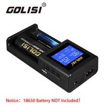 100% Оригинальные golisi S2 2.0A Smart Зарядное устройство с ЖК-дисплей Экран для 20700/26650/18650 батареи быстрой зарядки нам /евро/Великобритания/Австралия Plug