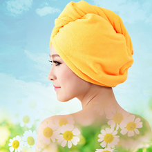 10 Color Microfiber Super Absorbent dry hair hat wipe quick towel woman girl bathing  25*60cm Customizable