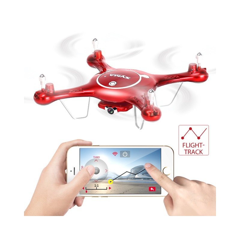 SYMA X5UW Drone with 720P HD Camera Phone Controlled FPV Quadcopter RTF 4CH RC Helicopter VS X5UC Electric Toys Gift high quality syma x5uw 720p wifi fpv with 2mp hd camera 2 4g 4ch 6axis rc quadcopter rtf remote control toys gift mode2