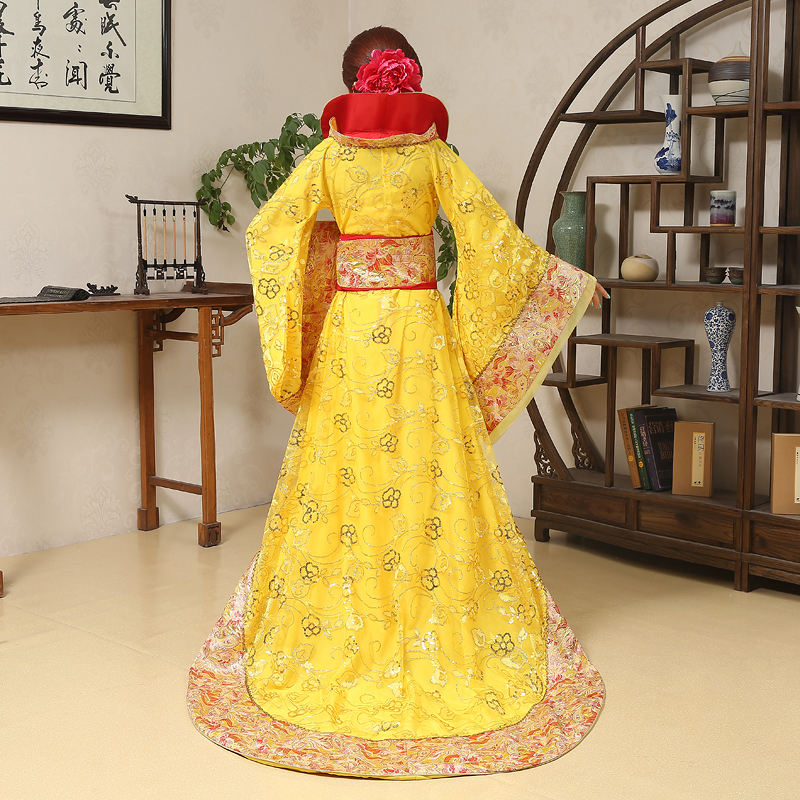 Image 5 - Luxury Tang Dynasty Costume drag tail concubine fairy womens costume stage bride Chinese wedding studio theme dance dresstang dynasty costumetang dynastydynasty costume -