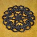 Diâmetro 21 cm (8.26 in) pote pad pires pentagrama Quente isolado jogo de chá panela de ferro fundido trivet Cinco pé pegador de panela de ferro fundido