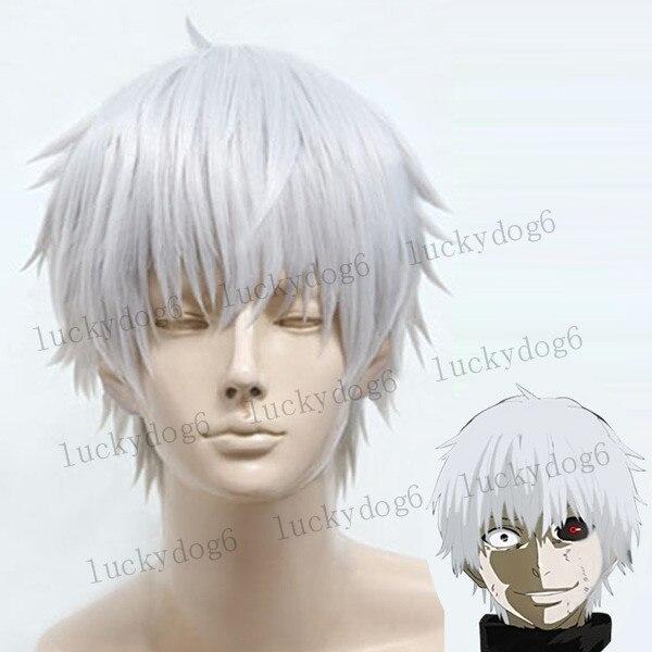 Anime Tokyo ghoul Kaneki Ken Cosplay Wig - Costumes/Accessories Store store