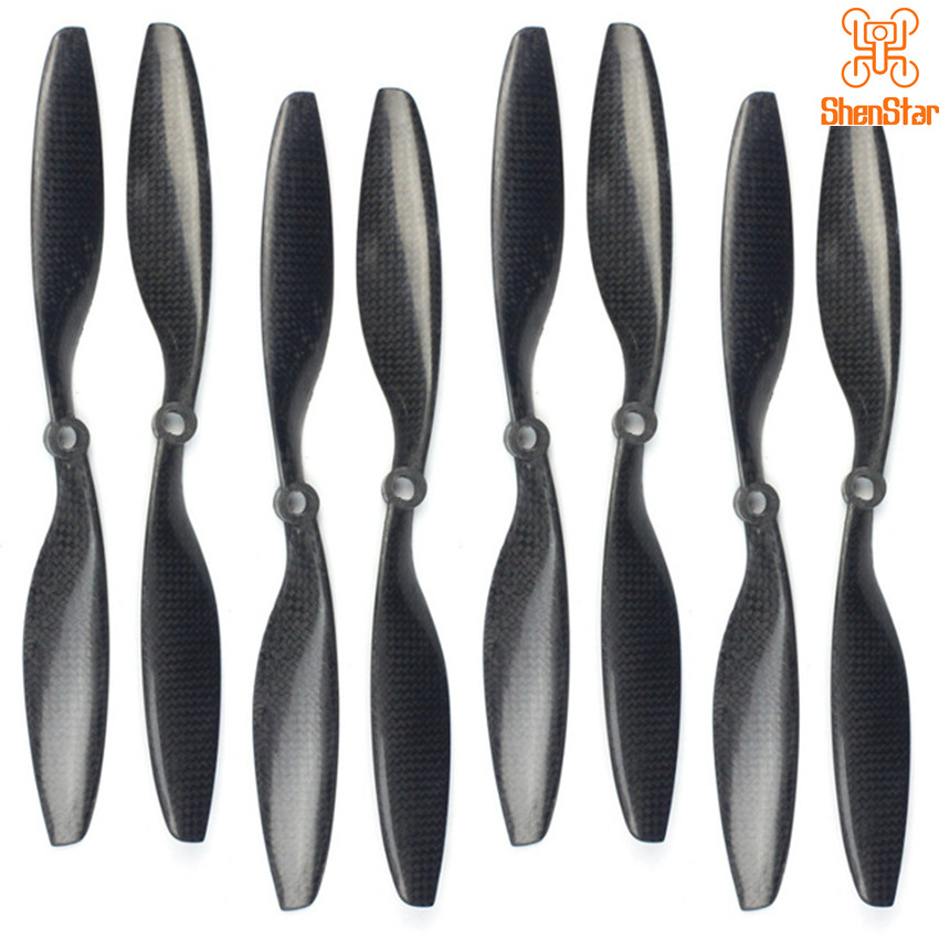 1pack of 4 Pairs 10x4.5 3K Carbon Fiber Propeller CW CCW 1045 Props for DJI Phantom Drone Motor Accessory 10inch image