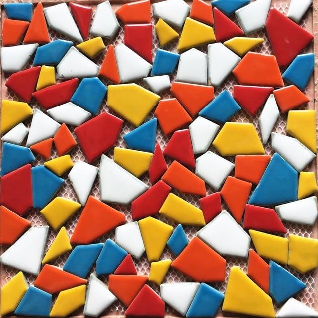 Rainbow Blue Red Irregular Pebble Porcelain Ceramic Mosaic tiles ...