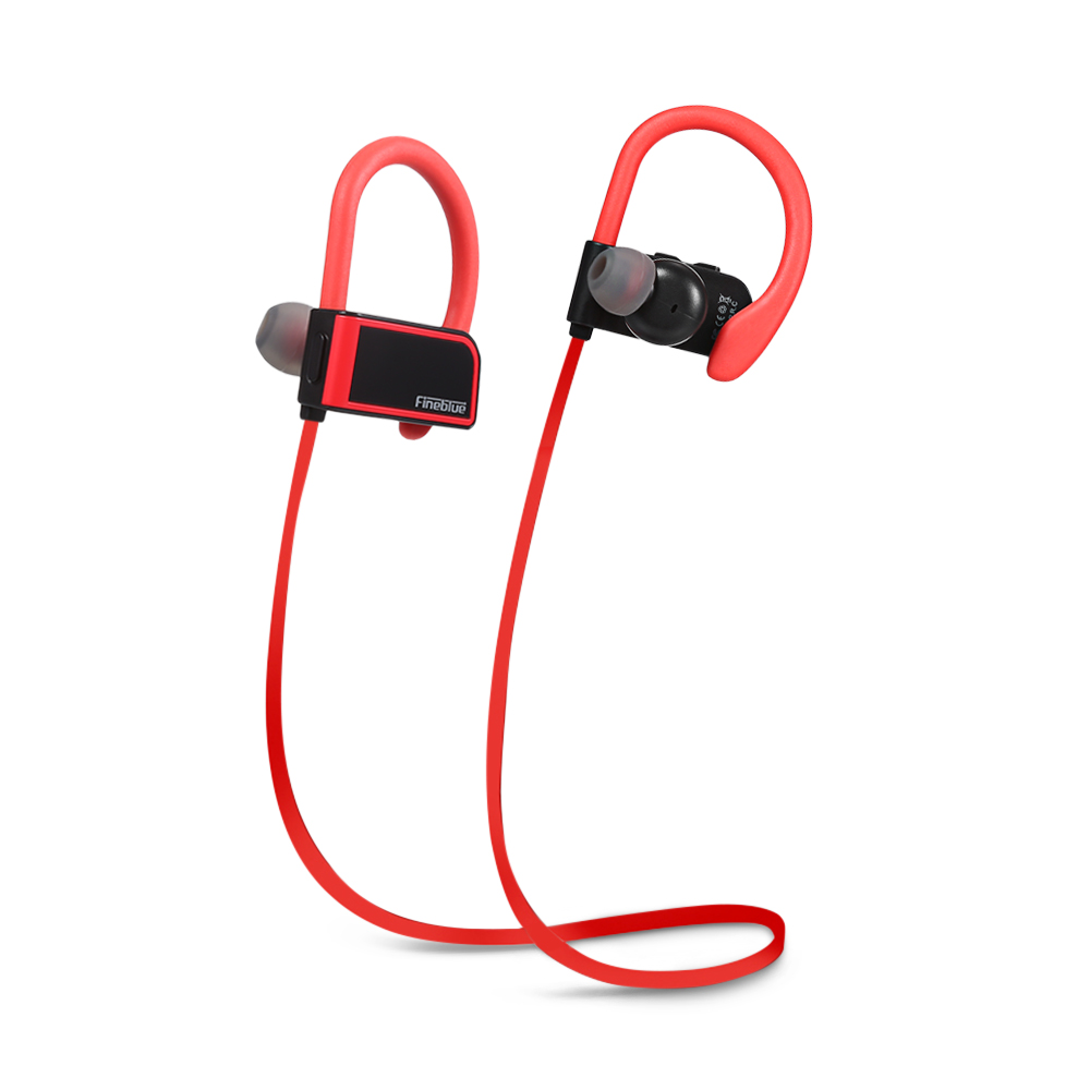 Fineblue FA-80 Sports Wireless Bluetooth Headset Sweatproof Magnetic Earphone Stereo HiFi Earbud W Microphone Noise Cancelling
