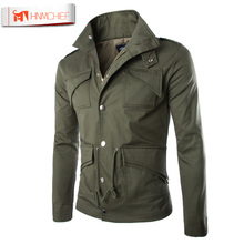 Mens Jackets Basic Coats Solid Color Male Casual Stand Collar bomber Jacket Zipper Slim Fit Cotton