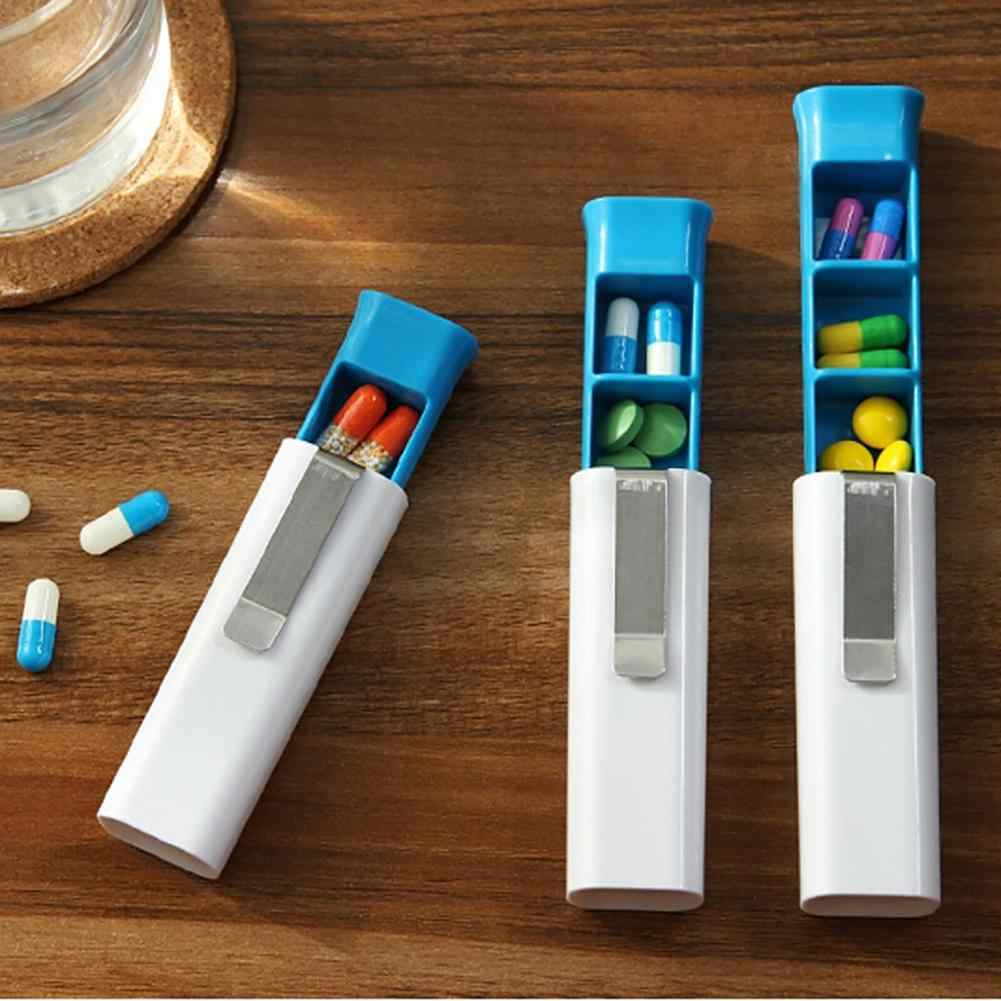 Portable Capsule Medicine Tube Container Case Holder Travel Pills Storage Box New