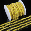 2mm Tiny Glass Crystal Cube Beads Jewelry Chain Supplies Plated Gold Wire Wrapped Link Beaded Chains