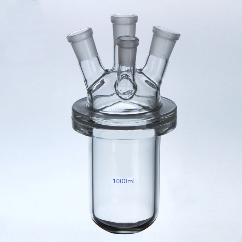 250ml 500ml 1000ml 2000ml four mothes glass reactor heavy sheet glass reaction still reaction flask free shipping 2l explosion proof motor driven jacket chemical reactor double neck glass reaction vessel reaction equipment