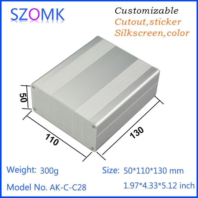 1 pcs, 50*110*130mm szomk aluminum amplifier housing distribution box electronics box for pcb diy enclosure aluminum case e cap aluminum 16v 22 2200uf electrolytic capacitors pack for diy project white 9 x 10 pcs