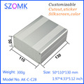 1 unids, 50*110*130mm cubierta de aluminio del amplificador de distribución szomk caja caja electrónica para pcb diy caja de aluminio recinto