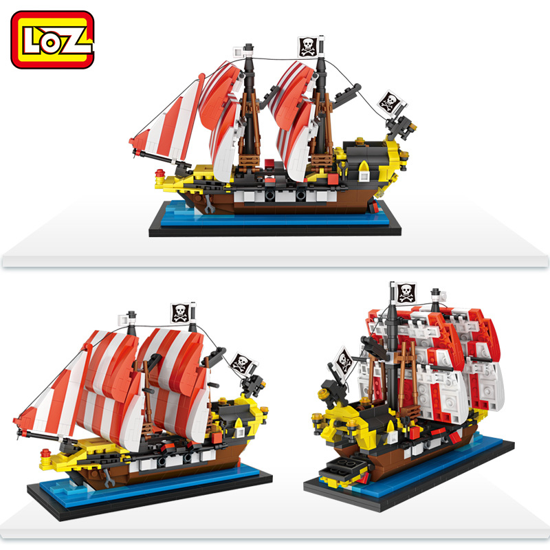 Ormino LOZ Pirate ship model toys hobbies building blocks kits abs plastic 1121pcs Christmas Gifts for kid Home Decorations home 4pcs lot loz christmas gifts doraemon