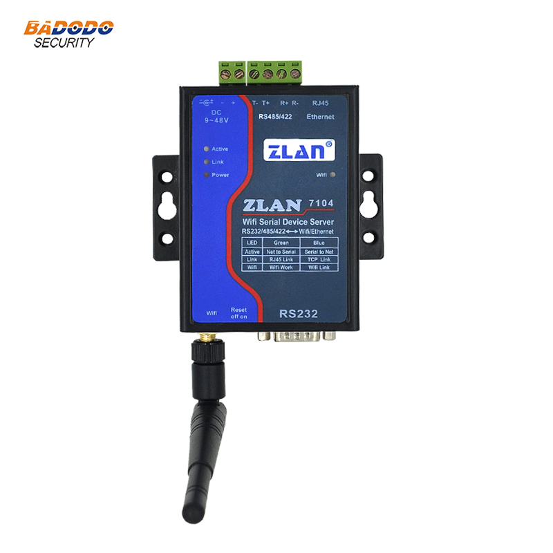 ZLAN7144 WIFI RJ45 Ethernet to RS232 RS485 RS422 serial port Converter wireless Serial Server support Modbus