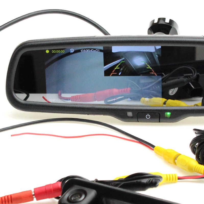Línea de conversión de enchufe de 4 pines Sinairyu a enchufe RCA solo admite sistema NTSC solo para monitores de espejo DVR de Sinairyu
