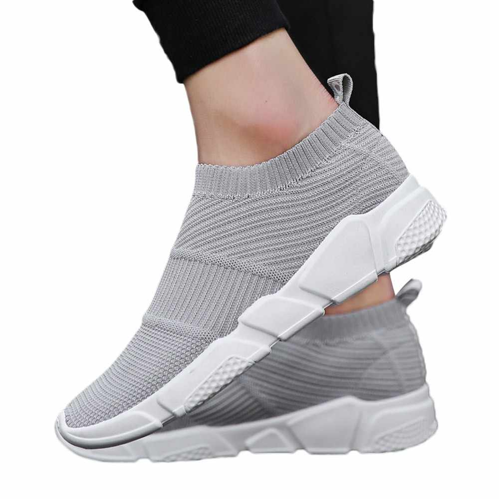 KLV men sneakers men running shoes gym sneakers for male sports shoes  summer female sneakers breathable c04a0c926409