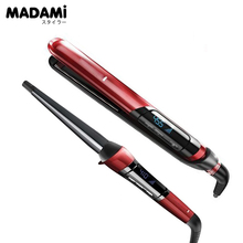 2pcs Set Remington Hair Straighteners S9600 Silk Ceramic Tourmaline 1 inch Flat Iron CI96W1 Hair Curling Wand  Silk Hair Curler