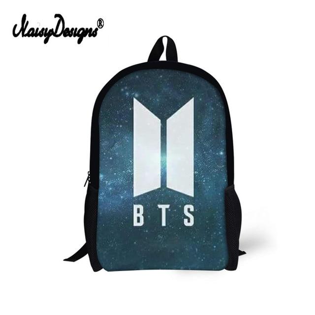 2c0d3439b290 Fashion Kpop BTS Bangtan Boys Backpacks 3D Printed School Bags For Women  Teenagers 16 Inch Shoulder Bag Rucksack Laptop Backpack