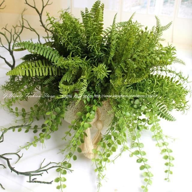 4 tipos realista de la sede artificial r stico verde de for Plantas decorativas tipos