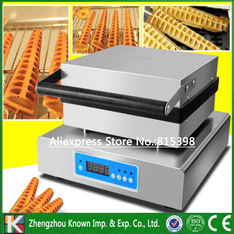 220V/110V hot selling 4 PCS lolly waffle making machine / electrical pine waffle maker with Digital control system