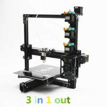 HE3D EI3 tricolor DIY 3D printer 24V power supply_ auto level _ large build size 200*280*200mm_three full metal extruders(China)