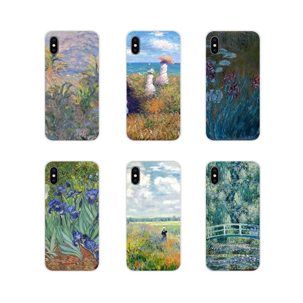 Design Claude Monet Classic Oil Painting Silicone Cases For Huawei P8 9 Lite Nova 2i 3i GR3 Y6 Pro Y7 Y8 Y9 Prime 2017 2018 2019