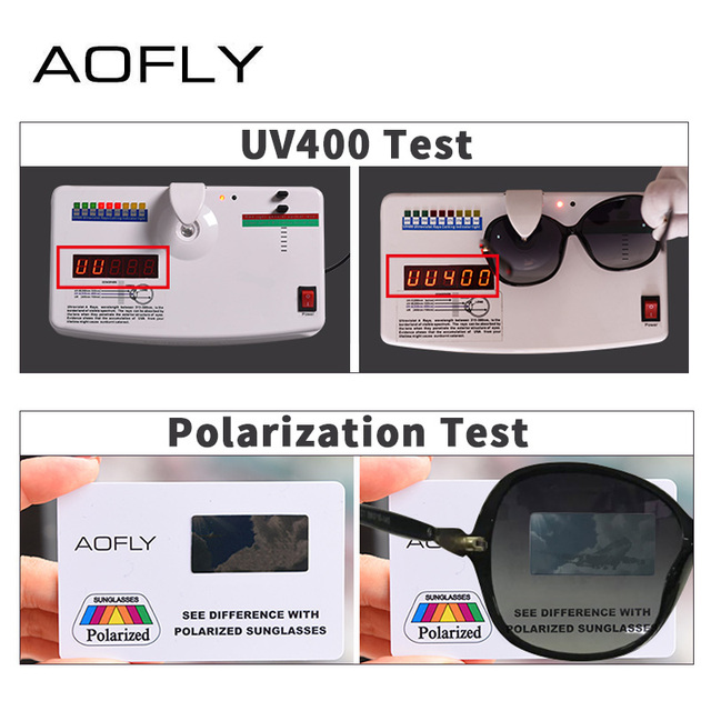 AOFLY BRAND DESIGN Classic Polarized Sunglasses Women Oversized Frame Gradient Lens Rhinestone Sunglasses A102 4
