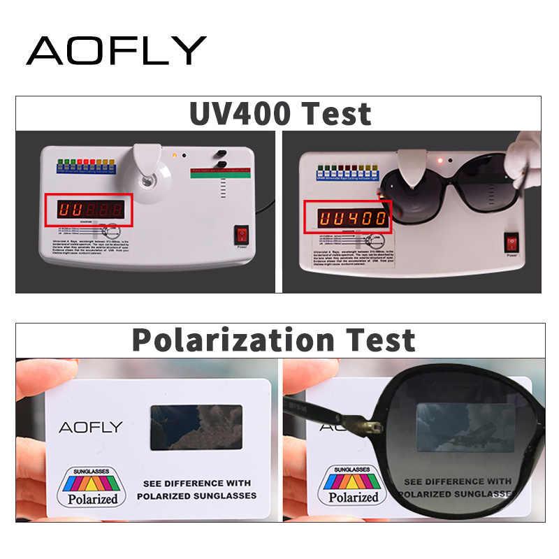 AOFLY ยี่ห้อออกแบบคลาสสิกแว่นตากันแดด Polarized ผู้หญิงกรอบ Gradient เลนส์แว่นตากันแดด Rhinestone A102