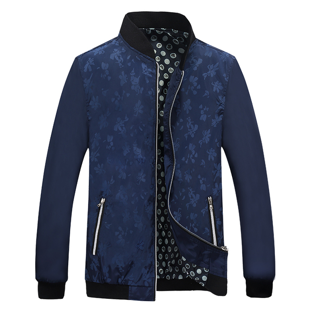 Men's Jacket Spring Autumn Fashion Overcoat 2017 New Arrival Stand Collar Slim Casual Style Whole Sale 4 Colors M-5XL