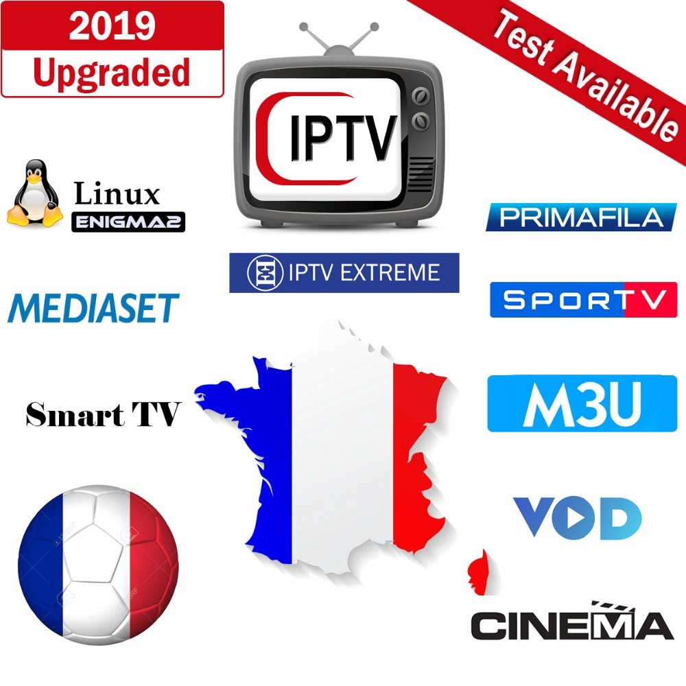 US $15 95 |Smarrgo IPTV French Germany UK Italy IPTV M3U Subscription RMC  Sport Italy Spanish Mediaset Premium Android TV Enigma2 Smart TV-in Set-top