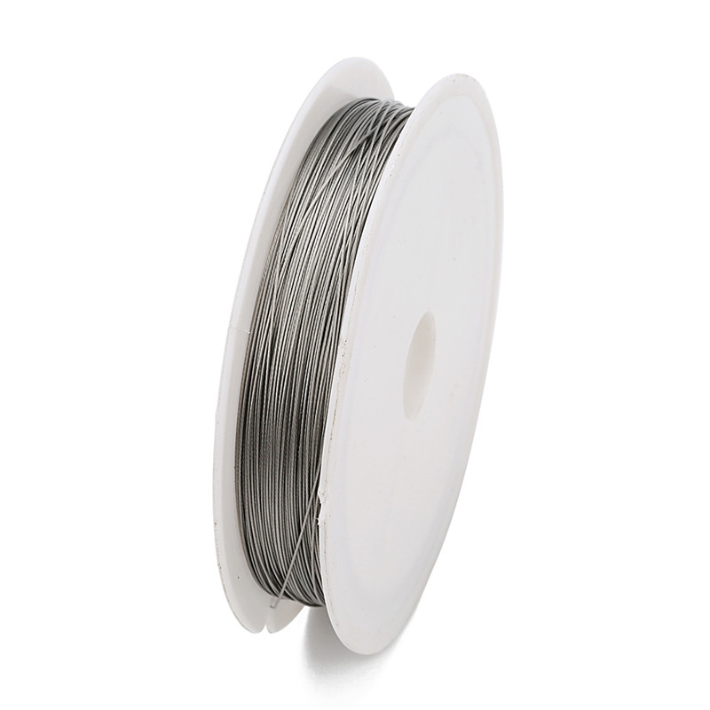 1 Roll/lots 0.3/0.45/0.5/0.6mm Resistant Strong Line Stainless Steel Wire Tiger Tail Beading Wire For Jewelry Making Finding