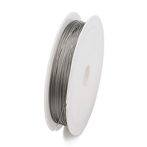 1 Roll/lots 0.3/0.45/0.5/0.6mm Resistant Strong Line Stainless Steel Wire Tiger Tail Beading Wire For Jewelry Making Finding(China)